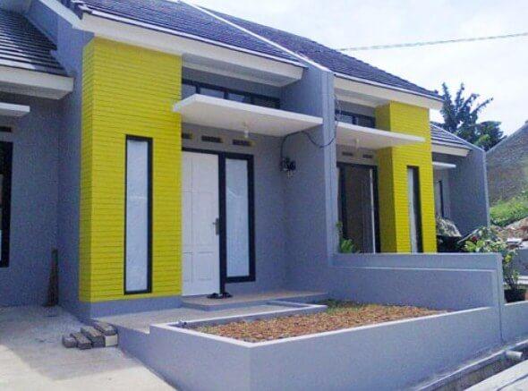 Kombinasi Warna Cat Rumah Biru Tampak Depan  warna cat rumah minimalis biru muda 2020 rumah minimalis