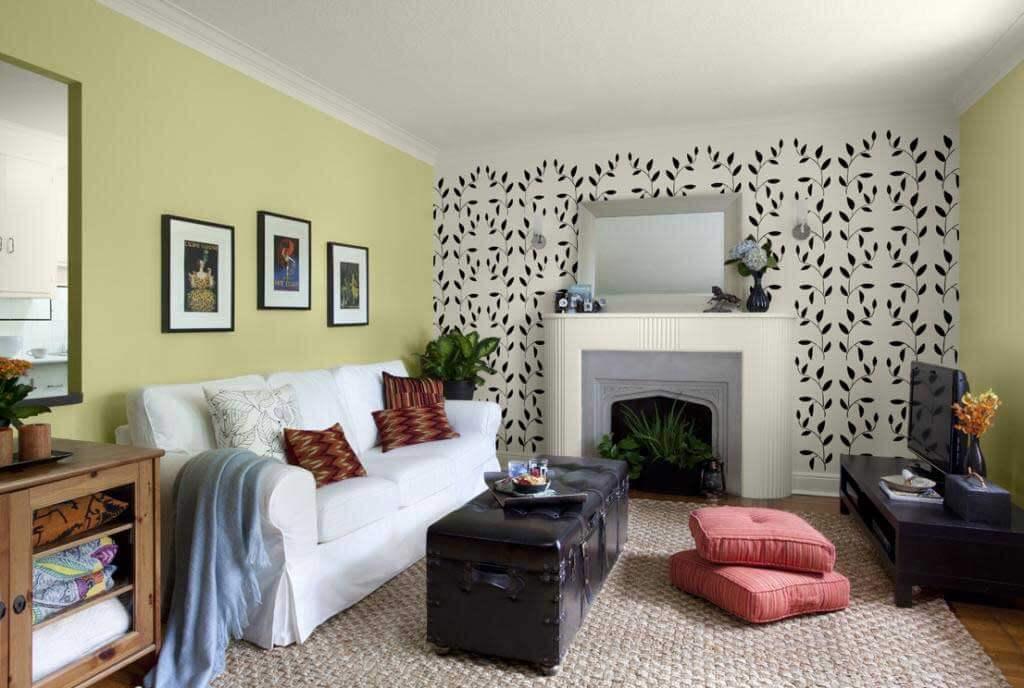 Ruang Keluarga Menggunakan Wallpaper Dinding 1
