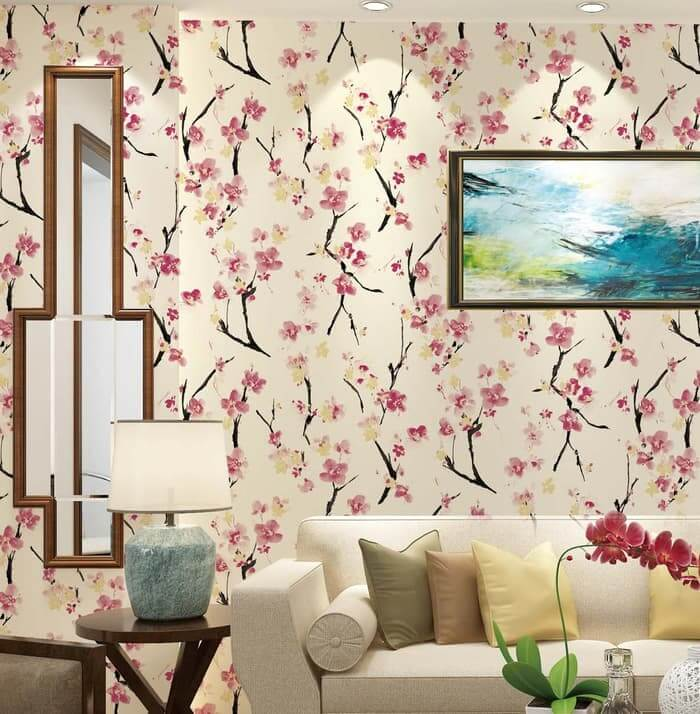 5 wallpaper dinding bunga natural