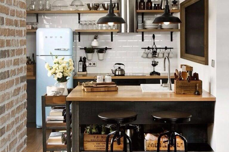 18 Desain Dapur Kecil Minimalis Cantik Sederhana Modern